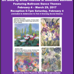 Art Show at Goldcoast Ballroom by Noted Artist Arline Peartree – Opening Reception 5-7pm Saturday, February 4 (Included in Admission to Evening Social Dance) – Art Show Continues Through March 29