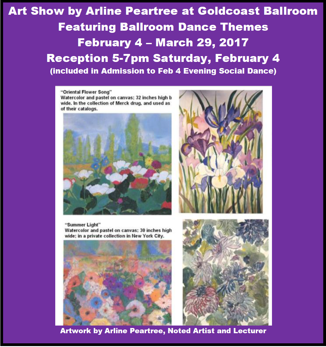 Art Show by Arline Peartree At Goldcoast Ballroom - February 4 - March 29, 2017