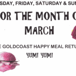 Special Promotion!! – Goldcoast Happy Meal Returns for Month of March!! – Light Evening Meal Included with Whole-Evening Admission to Regular Evening Social Dances in March, 2017!!