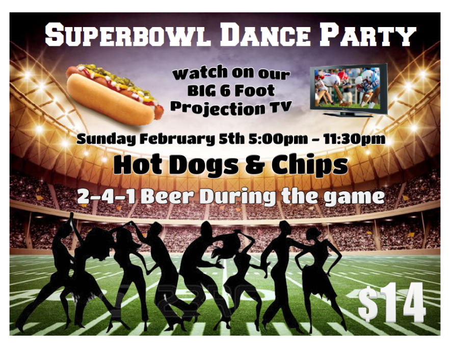 SuperBowl Party - February 5, 2017 - 5:00 PM - 11:30PM - at Goldcoast Ballroom