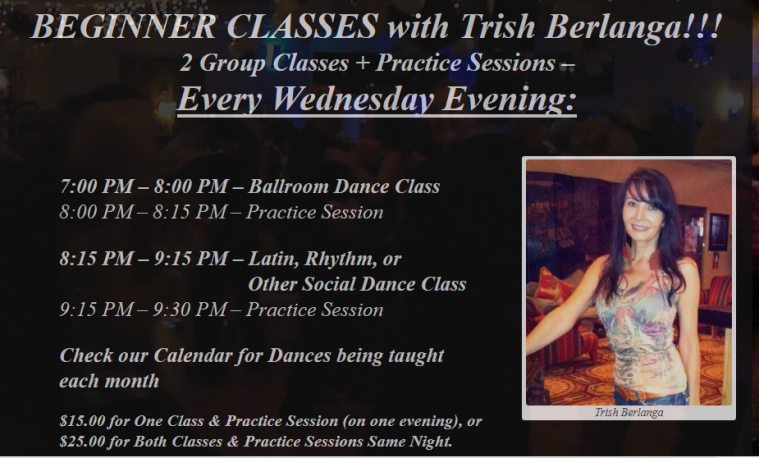 Beginner Classes With Trish Berlanga Every Wednesday Evening At Goldcoast Ballroom!!