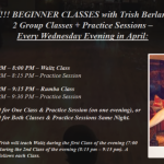 BEGINNER CLASSES WITH TRISH BERLANGA!! – WEDNESDAY EVENINGS IN FEBRUARY