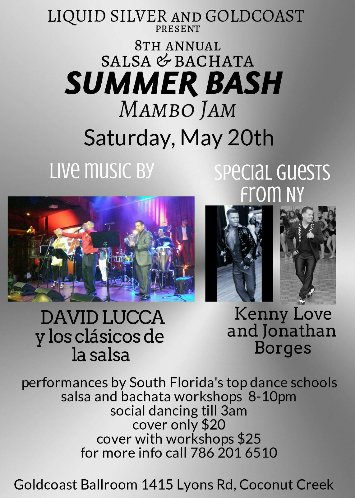 Salsa & Bachata Summer Bash & Mambo Jam! -  Saturday, May 20, 2017 - Presented By Liquid Silver & Goldcoast Ballroom