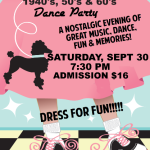 EXCITING!!  Goldcoast Ballroom 1940's, 50's & 60's  DANCE PARTY!! – Saturday, September 30 – 7:30 PM – 11:00 PM  – Complimentary Group Class Included (6:30 PM – 7:30 PM  – Lindy Hop with Bradley Rogers!) – $16.00* Whole Evening