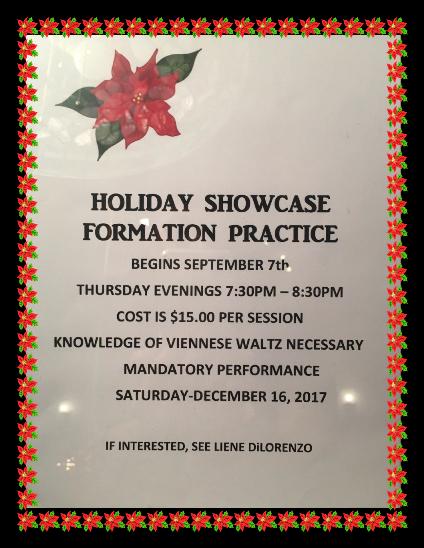 2017 Holiday Showcase Formation Team – Practice Begins September 7, 2017