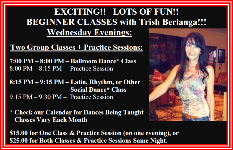 Beginner Classes With Trish Berlanga Wednesday Evenings At Goldcoast Ballroom