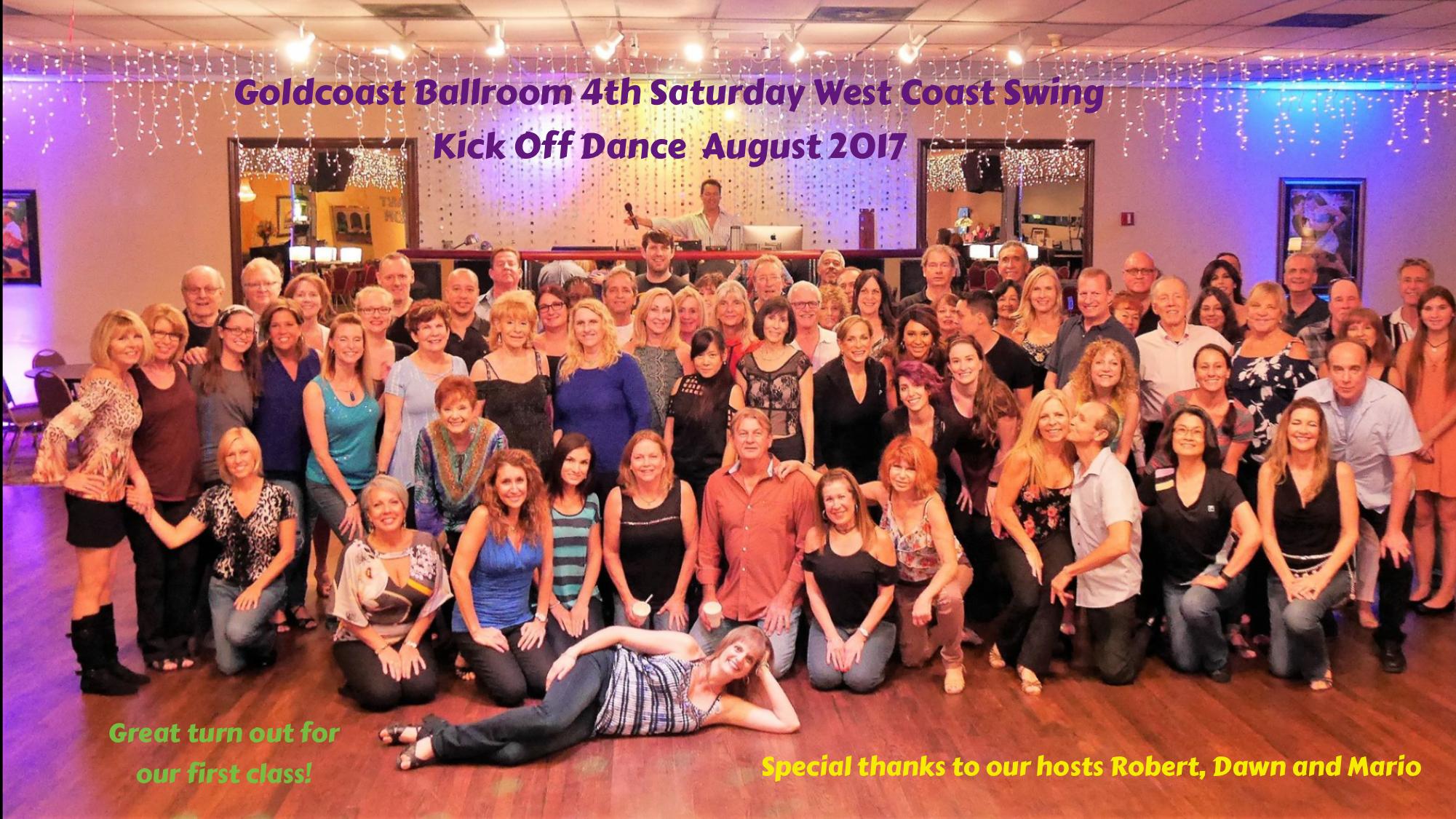 4th Saturday - West Coast Swing Night - Kickoff - August, 2017!