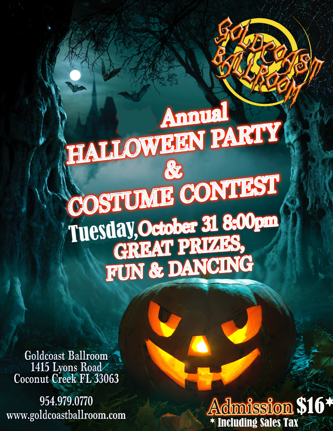 Annual Halloween Party & Costume Contest!! - Win Prizes!! - Tuesday, October 31, 2017 -  8 PM