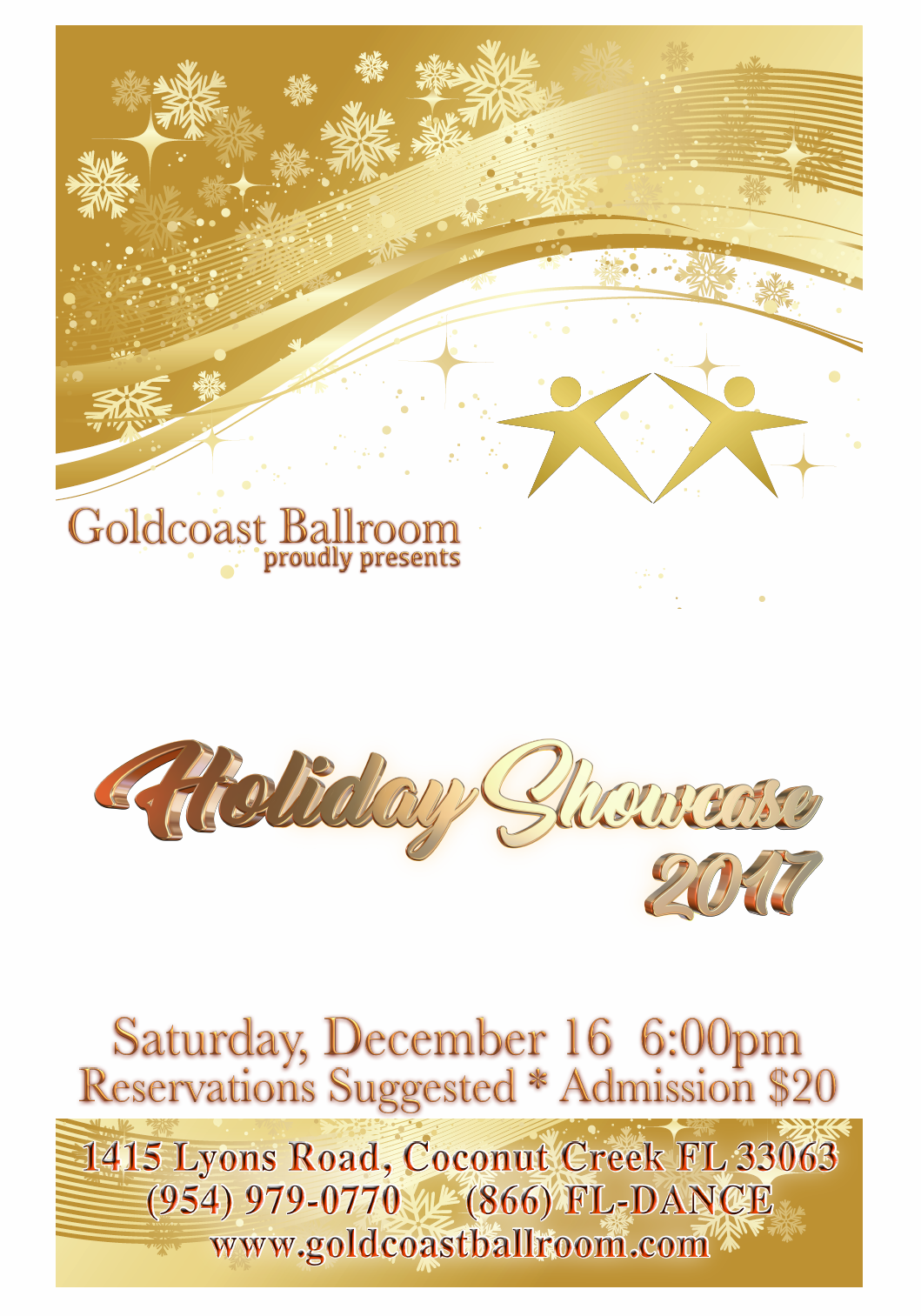 2017 Goldcoast Ballroom Holiday Showcase - Saturday, December 16, 2017
