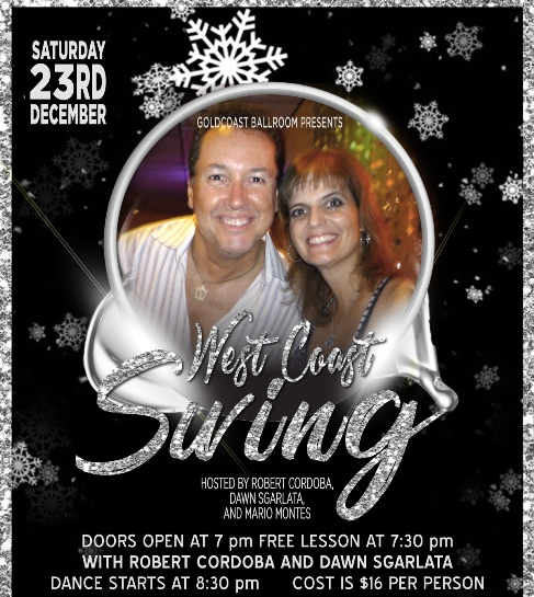 West Coast Swing - 4th Saturday Dance - December 23, 2017 - at Goldcoast Ballroom