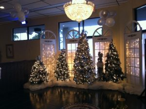 Entry Area at Goldcoast Ballroom - in Festive Holiday Decor