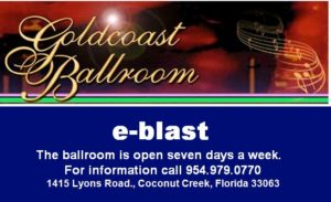 Sign Up for Goldcoast Ballroom's Free E-Blast - E-mail Updates