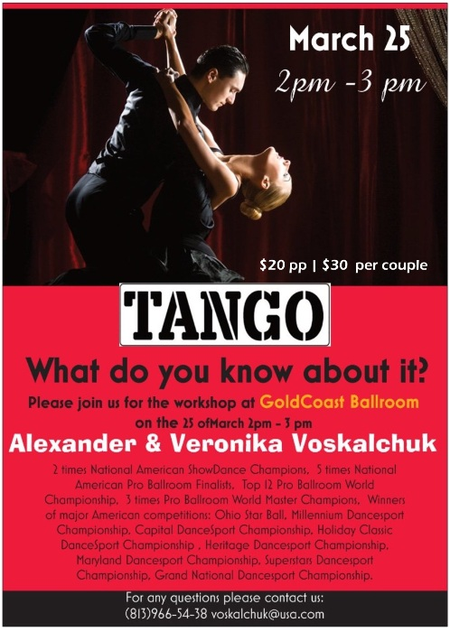 Alexander & Veronika Voskalchuk - Tango Workshop - March 25, 2018