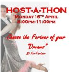 HOST-A-THON DANCE PARTY & FUNDRAISER!! – Monday, April 16, 2018  (8 PM – 11 PM) at Goldcoast Ballroom – Choose the Partners of Your Dreams!  – $10.00* Admission + $5.00 Per Dance