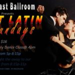 Every Sunday Evening at Goldcoast Ballroom – Sizzling Latin Mix Party 5 PM – 8:15 PM; Party Mix 8:15 PM – 11 PM – with COMPLIMENTARY Salsa Class!! (4 PM – 5 PM)