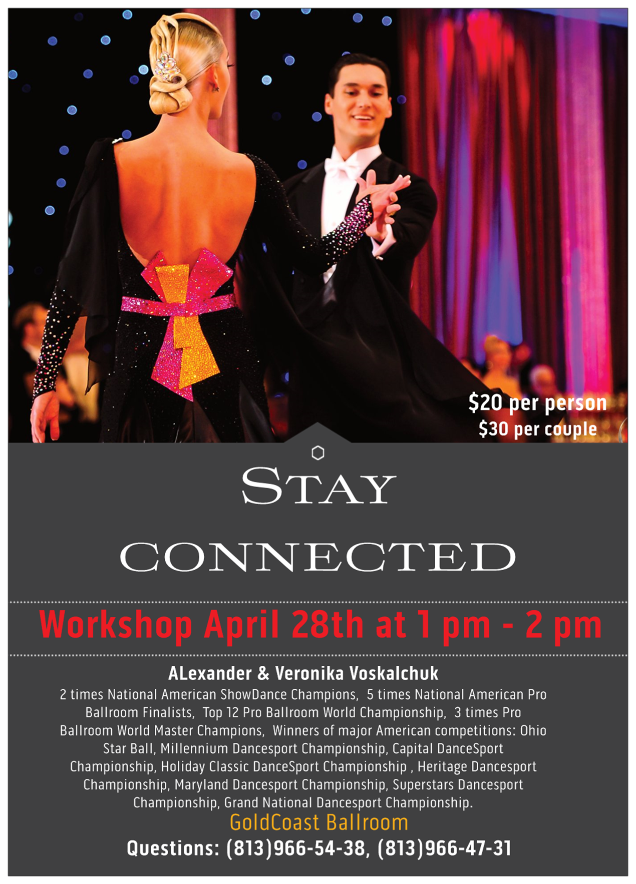 "Alexander & Veronika Voskalchuk - April 28 Master Workshop - ""Stay Connected"""