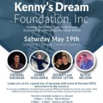 WEST COAST SWING CHARITY FUNDRAISER – Saturday, May 19 – 4 Workshops with World Class West Coast Swing Pros + Evening Dance – Benefiting Kenny's Dream Foundation (helping those with Tourette Syndrome) – Organized by Dawn Sgarlata at Goldcoast Ballroom