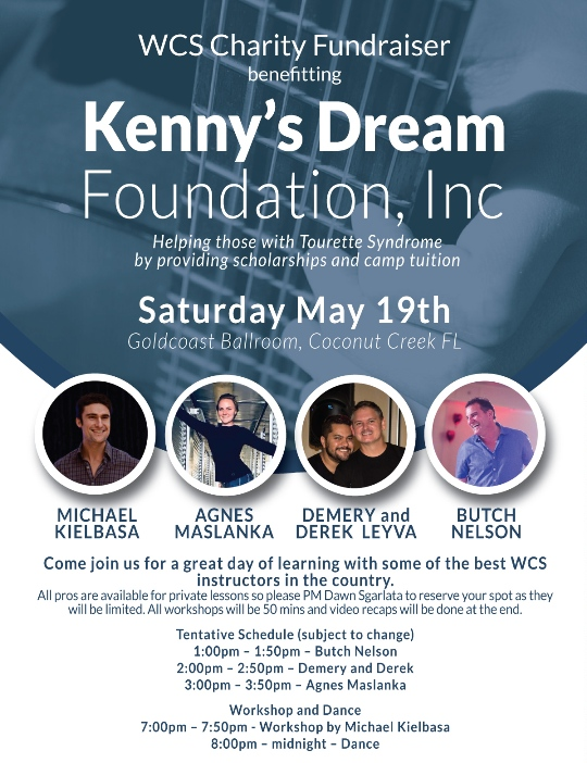 WCS Charity Fundraiser - Saturday, May 19. 2018 - Organized by Dawn Sgarlata at Goldcoast Ballroom
