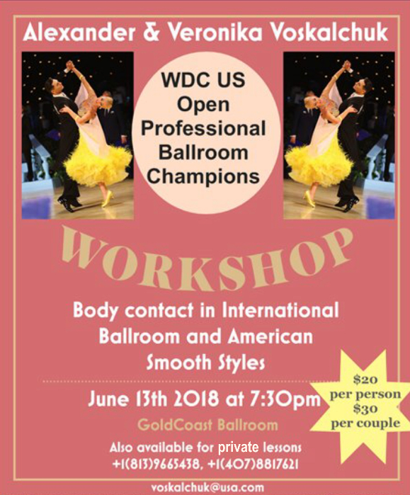 Alexander & Veronika Voskalchuk - Wednesday, June 13, 2018 - Master Workshop - 7:30 pm - 8:30 pm