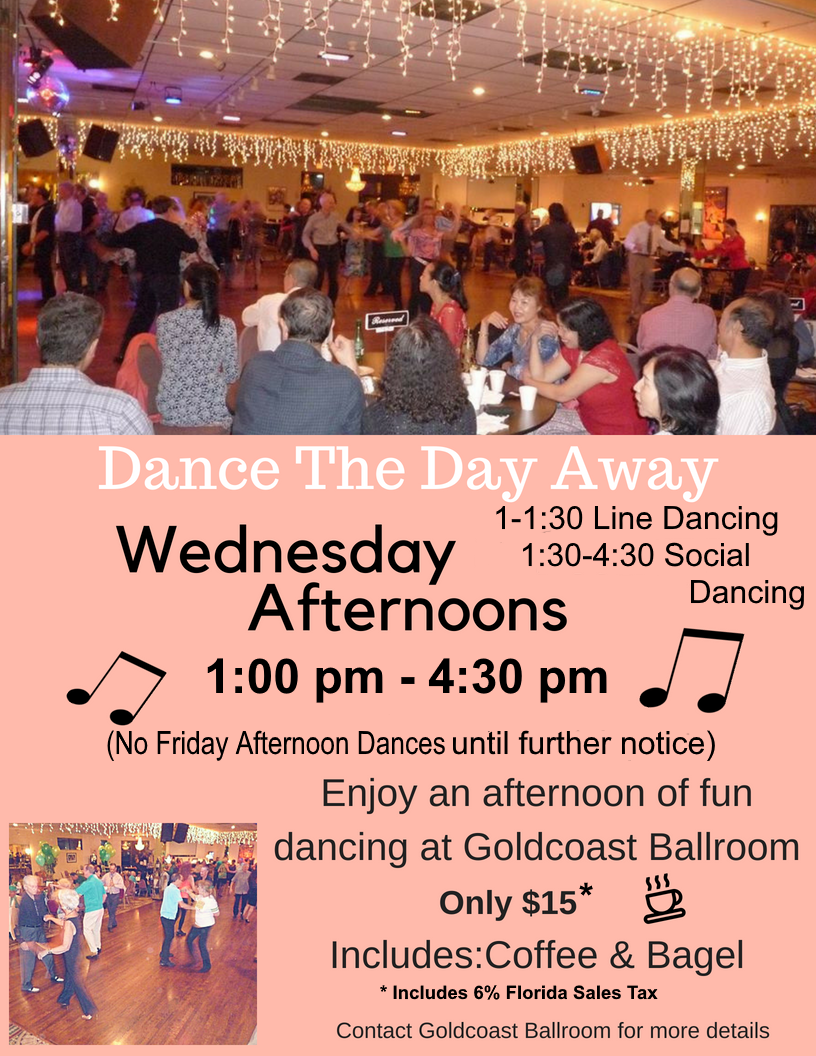 Join Us for Wednesday Afternoon Dances (1 pm - 4:30 pm)