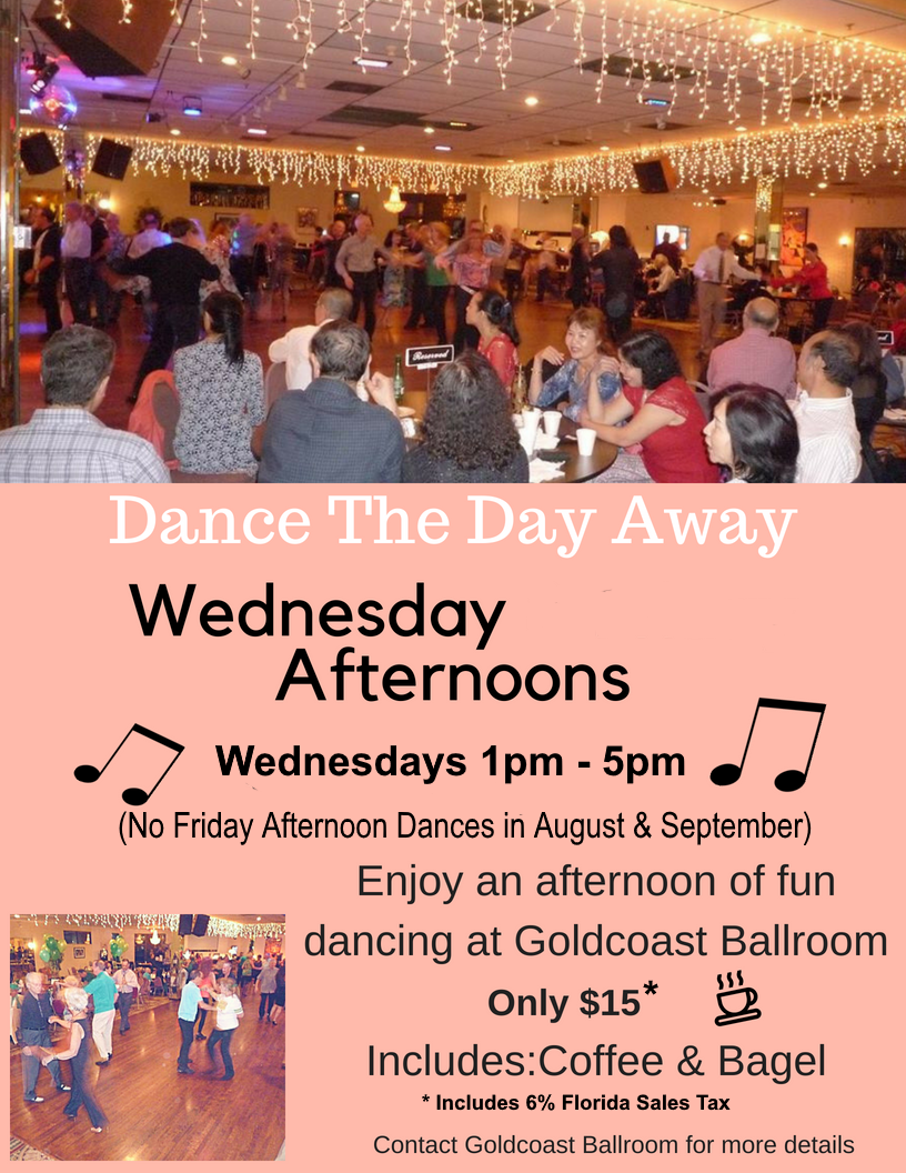 Join Us for Wednesday Afternoon Dances (1-5 pm)