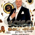 July 7, 2018 – Special Salsa & Bachata White Party & Workshop!! – 2 Hour Workshop by Mario Gonzalez on Musicality & Timing (7:30 PM – 9:30 PM) – Salsa & Bachata Social Dance (9:30 PM – 2:00 AM) – $30.00* Both Workshop & Dance; $15.00* Dance Only