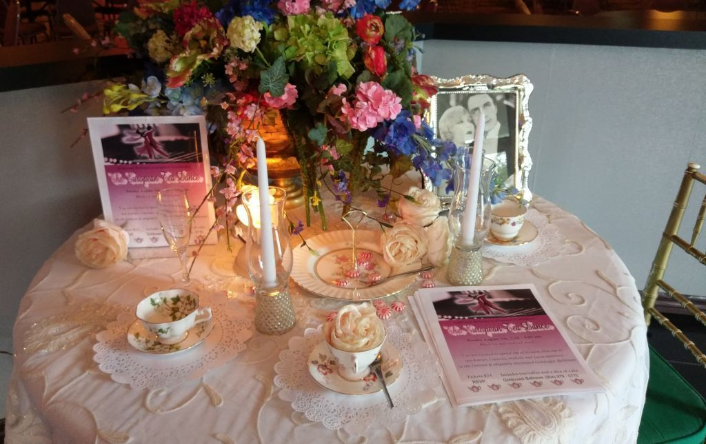 Tea Party Table - Join us at our European Tea Dance - Sunday, August 5, 2018!