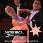 Very Exciting!!! – Wednesday, June 27, 2018 – 7:30 PM – 8:30 PM – SPECIAL MASTER WORKSHOP – 'Make A Step' – With ALEXANDER & VERONIKA VOSKALCHUK!! – WDC U.S. OPEN PROFESSIONAL BALLROOM CHAMPIONS!! – For All Levels Ballroom and American Smooth -$20 per person; $30 per couple – Also Available for Private Lessons! – Call to schedule!