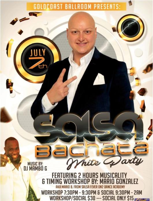 Salsa & Bachata White Party & Workshop - July 7, 2018