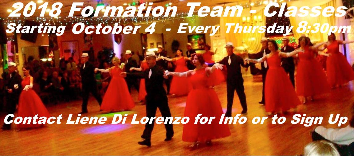 2018 Formation Team Meeting Thursdays 8:30 PM - October - December 13