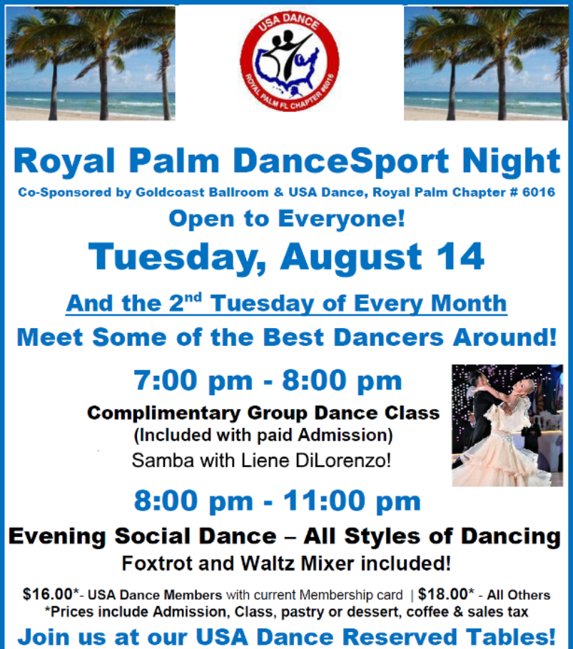 August 14, 2018 - Royal Palm DanceSport Night