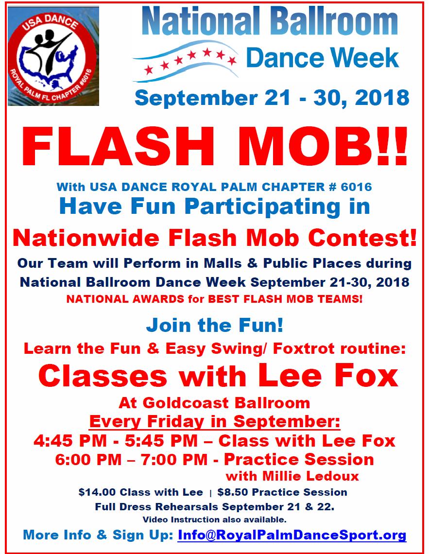 Flash Mob Classes in September at Goldcoast Ballroom