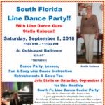 South FL Line Dance Party - Sept. 8, 2018