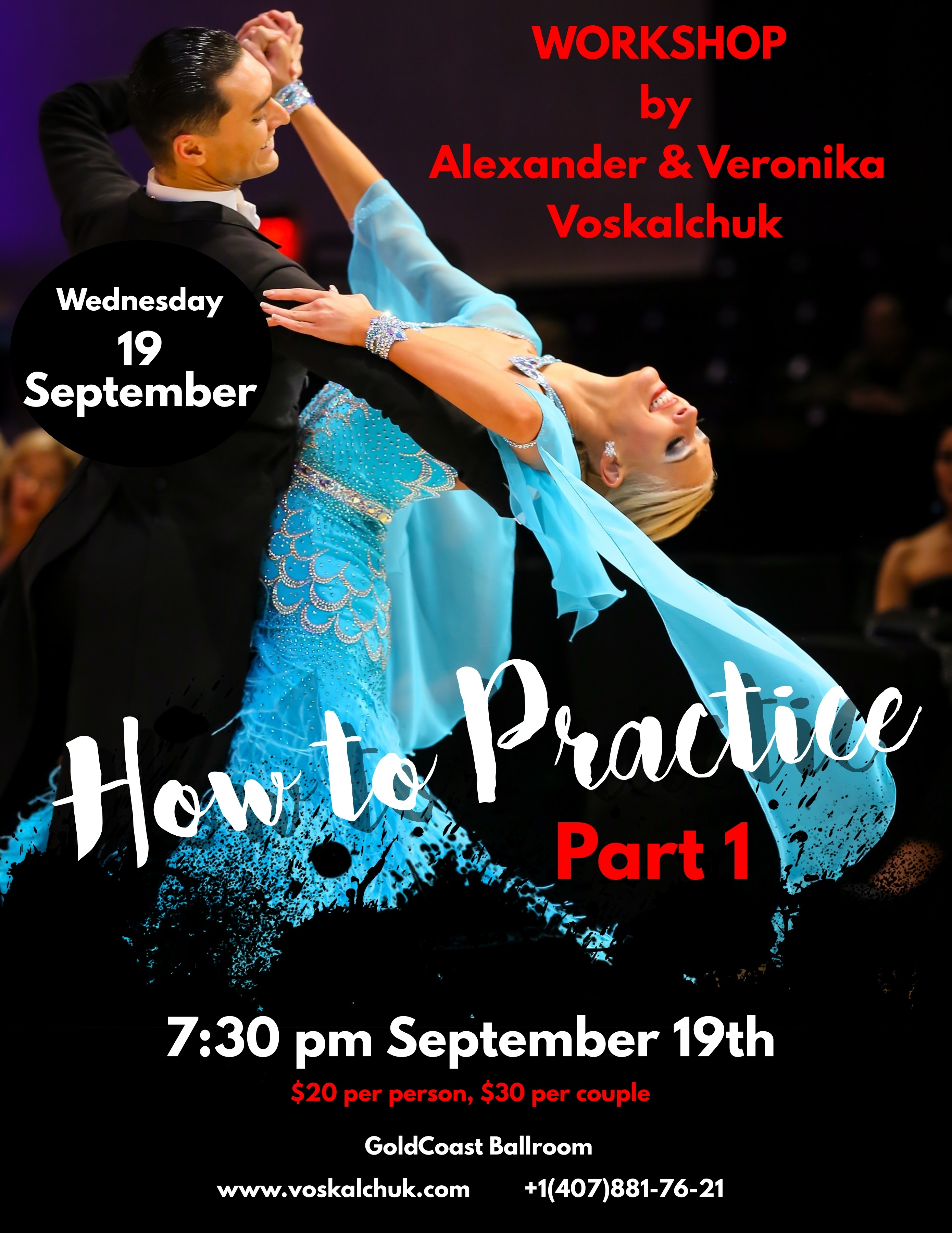 Alexander & Veronika Voskalchuk - September 19, 2018 Workshop - How to Practice (Part 1) - at Goldcoast Ballroom