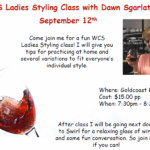 West Coast Swing Ladies Styling Class – with Dawn Sgarlata – Wednesday, September 12 – 7:30 PM – 8:30 PM
