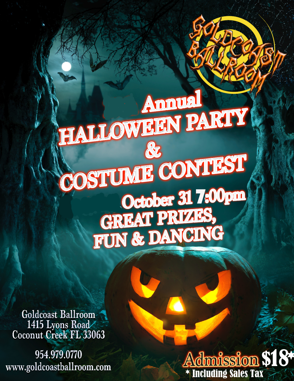 Annual Halloween Party & Costume Contest!! - Win Prizes!! - Wednesday, October 31, 2018 -  7 PM