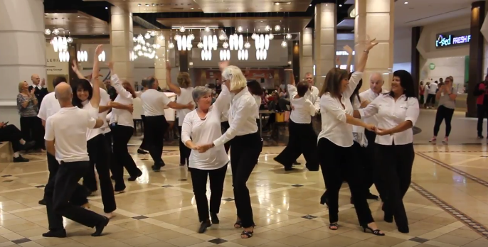 USA Dance, Royal Palm Chapter # 6016 - Flash Mob at The Galleria Mall, Ft Lauderdale - 9-22-2018