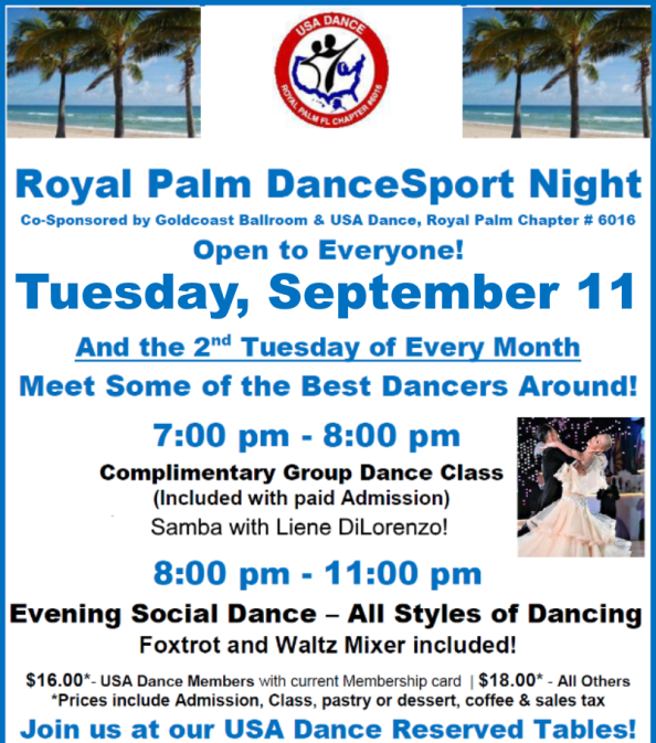 September 11, 2018 - Royal Palm DanceSport Night!