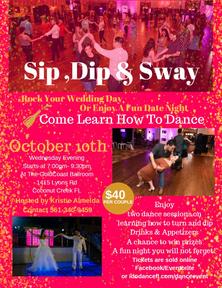 Sip, Dip & Sway with Kristie Almeida - Wednesday, October 10, 2018