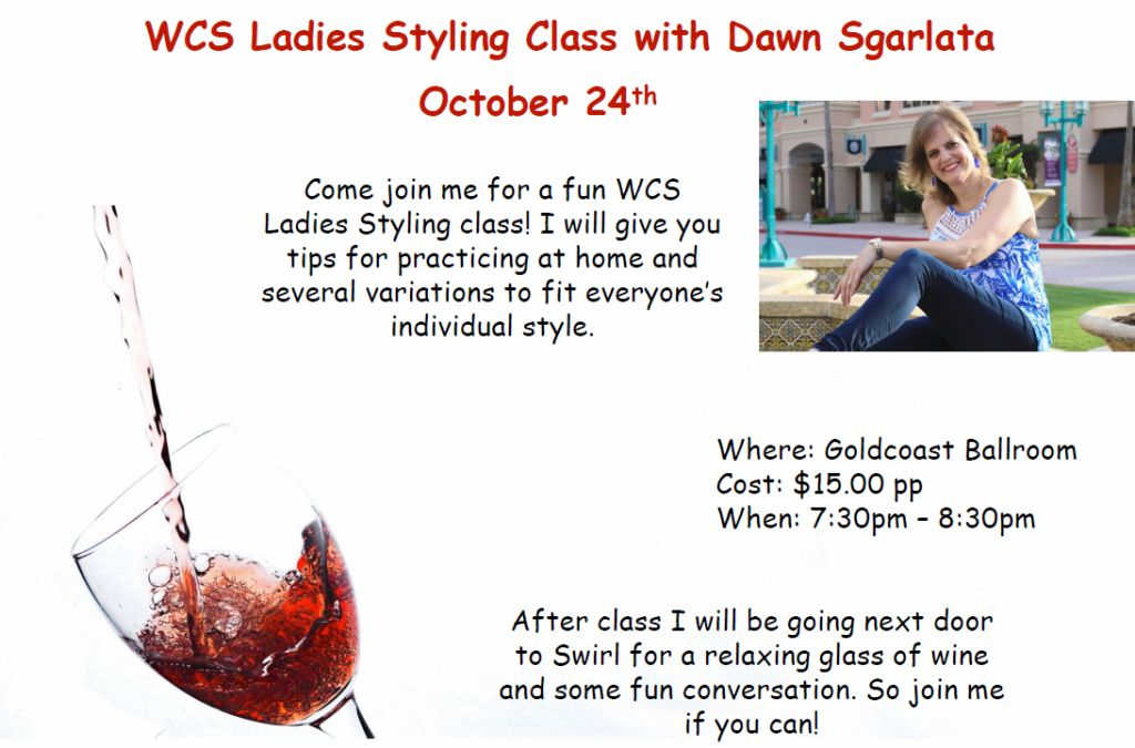 WCS Ladies Styling with Dawn Sgarlata - October 24, 2018