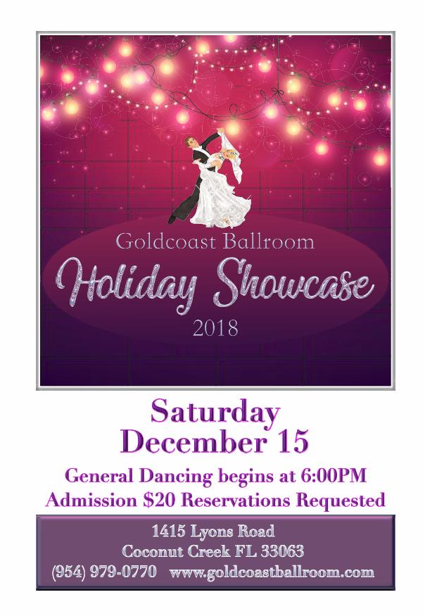 Holiday Showcase - December 15, 2018 (Flyer)