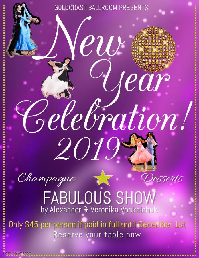 New Year's Eve Party & Fabulous Show by Alexander & Veronika Voskalchuk - December 31, 2018