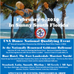 Register Now!!  Entry List Growing Fast!! – Discounted Rates until December 1 – Royal Palm DanceSport Championships NQE – February 9, 2019 at Goldcoast Ballroom! – Organized by USA Dance, Royal Palm Chapter #6016