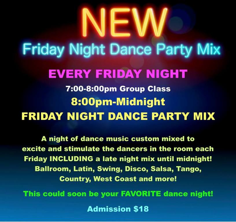 NEW Friday Nights at Goldcoast Ballroom!!