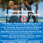 Register Now!!  Standard Rates Apply until January 12! – Purchase Spectator Tickets Online Now!! – Royal Palm DanceSport Championships NQE – February 9, 2019 at Goldcoast Ballroom! – An Event You Don't Want to Miss!