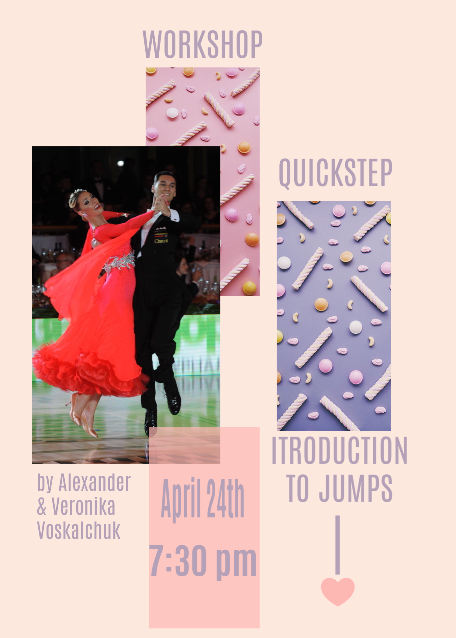 Alexander & Veronika Voskalchuk - Quickstep Workshop - Wednesday, April 24, 2019 - 7.30 PM