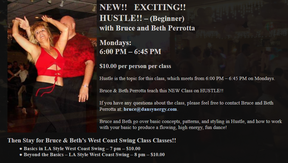 Hustle Class Mondays with Bruce & Beth Perrotta