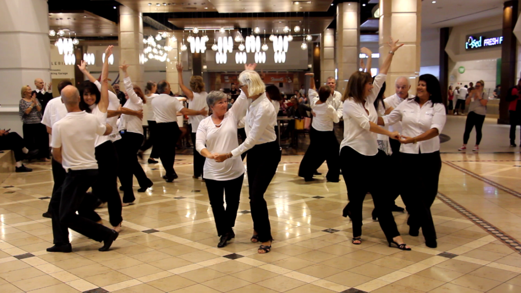 Our 2018 Flash Mob Formation Team performing  at Galleria Mall! - Performed at Three Malls & Two Ballrooms - Won Honorable Mention in Nationwide Flashmob Contest!!