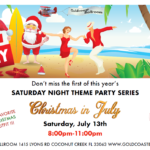 CHRISTMAS IN JULY DANCE PARTY!! – Saturday, July 13 – 8-11 PM – Wear Red & Green or Christmas Attire – Only $12.00*  (No Annual Passes Accepted)