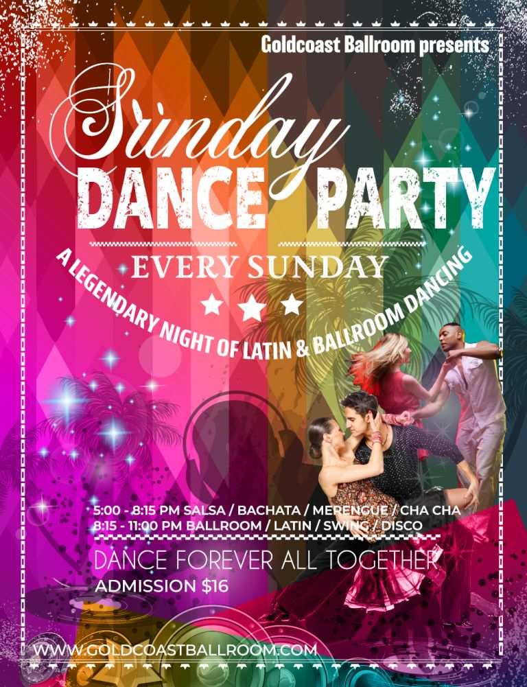 Goldcoast Ballroom Sunday Evening Dance Party!
